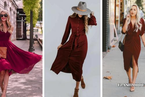 Quelle couleur de chaussures avec une robe bordeaux ?