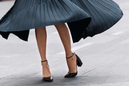 Quelles chaussures avec une jupe Plissee ?
